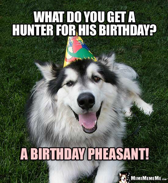 Funny Happy Birthday Hunting