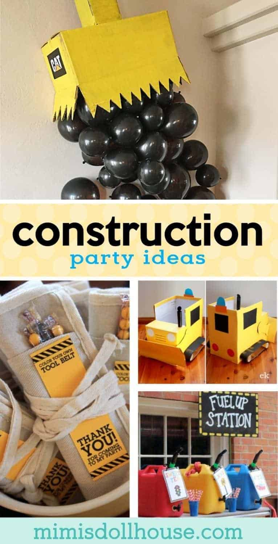 Construction Party Under Construction Party Ideas  Mimi