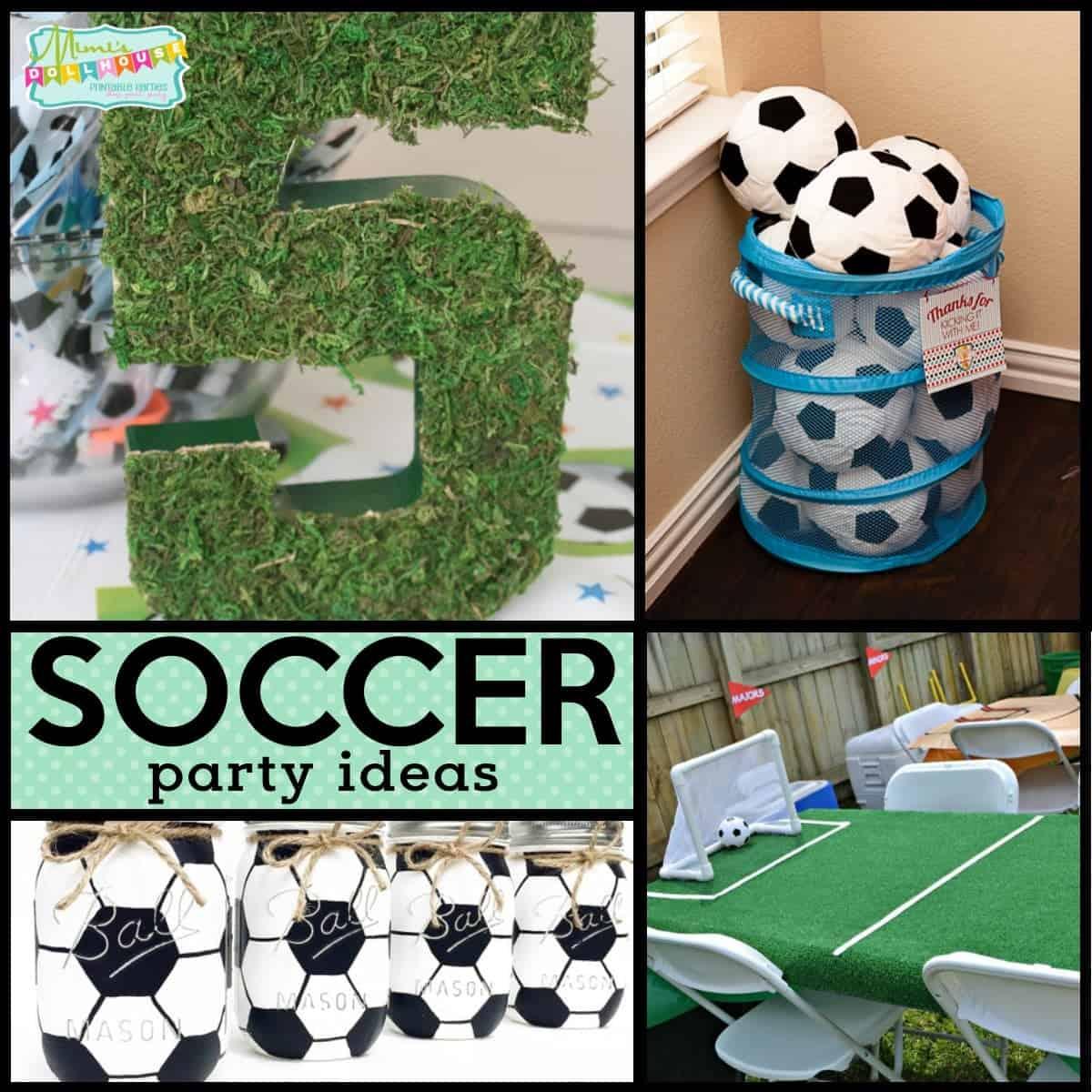 Soccer Birthday Party Futbol Birthday Party Ideas Mimi