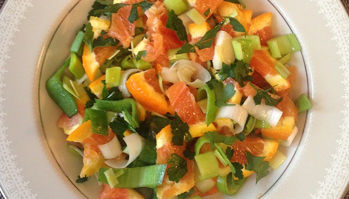 Orange Leek Salad Featured