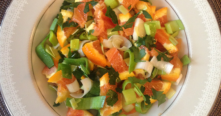 Orange and Leek Salad (Sallatë me Portokall dhe Presh)