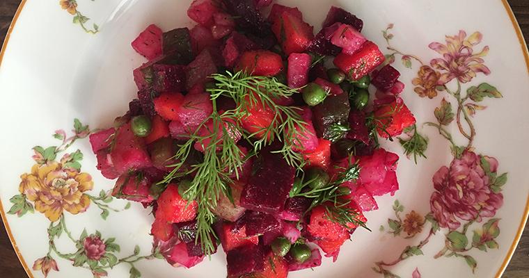 Beets and Potatoes Vinaigrette Salad