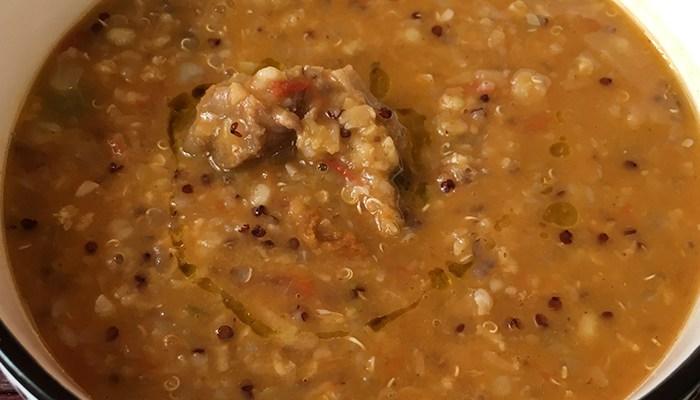 Lamb Lentil Quinoa Soup