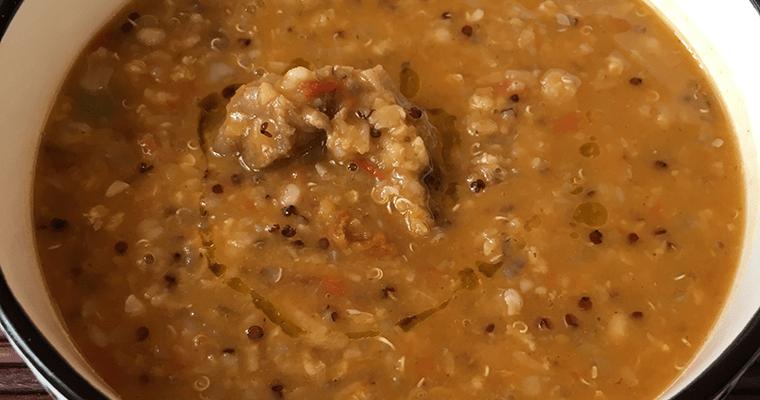 Lamb, Lentil and Quinoa Soup