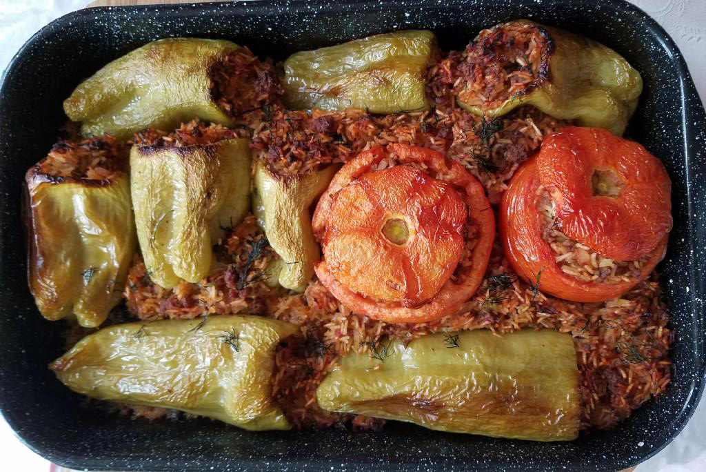 Stuffed Peppers Ground Beef Rice After Cooking