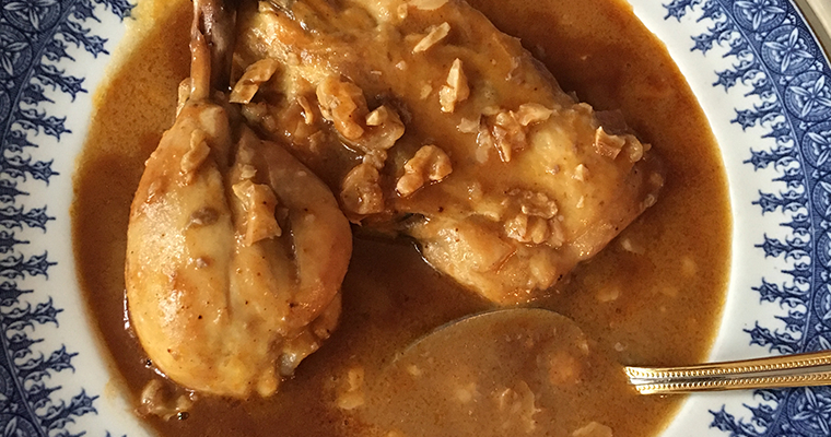 Chicken Walnut Soup (Qull Pule me Arra)
