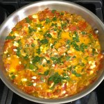One-Pan Eggs & Peppers (Fërgesë) Featured