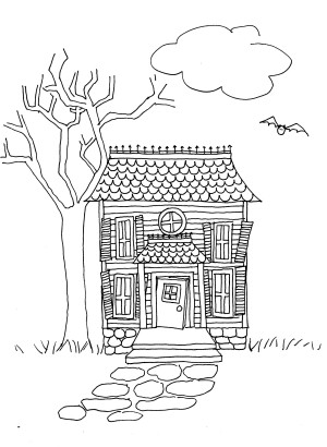 Draw a Haunted House Lesson