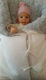 Saco bebe para capazo tela plants pelo gris