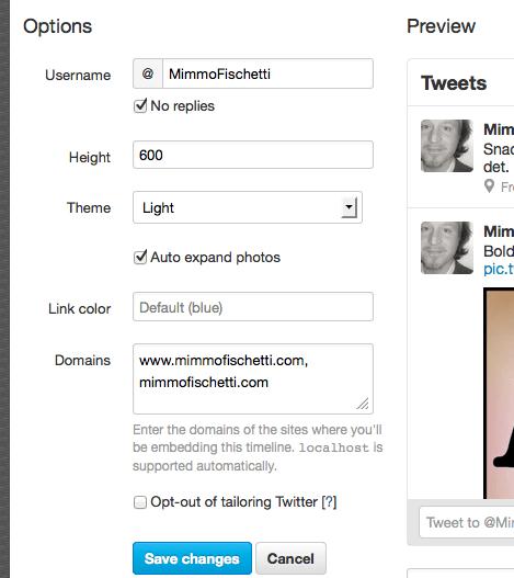 settings twitter