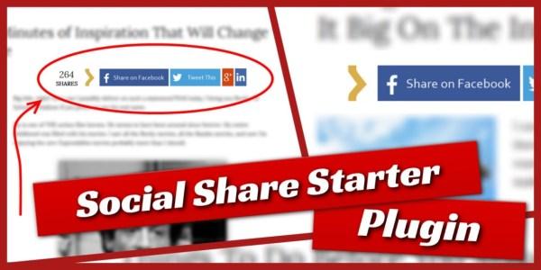social-share-starter large buttons plugin for wordpress