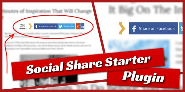 social-share-starter large buttons plugin for wordpress