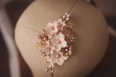 gold bridal headpieces