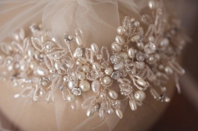 pearl wedding headpieces
