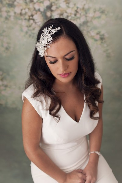 pearl wedding headpieces