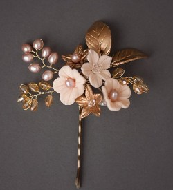 pink pearl pridal hair pin