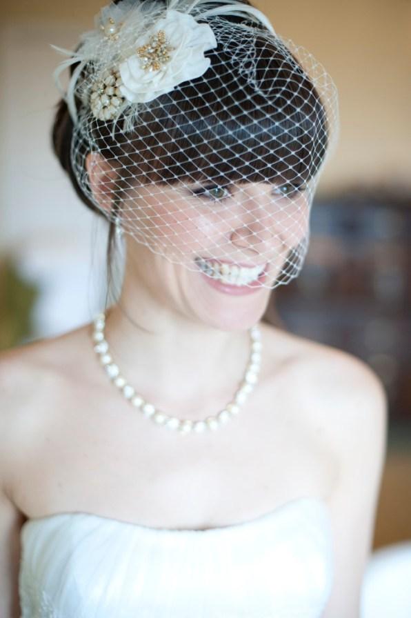 Bespoke birdcage veil