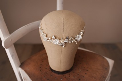 bridal hair vine hairpiece