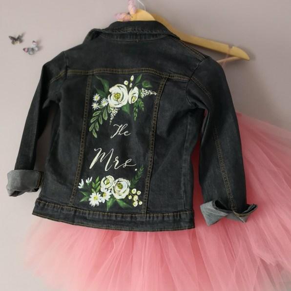 bespoke painted bridal jacket