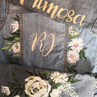 girls personalised wedding jacket