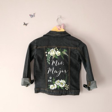 wedding jacket calligraphy