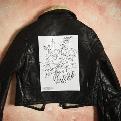 DIY Pained Wedding Leather Jacket