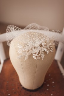 Ophelie Comb with Birdcage Veil