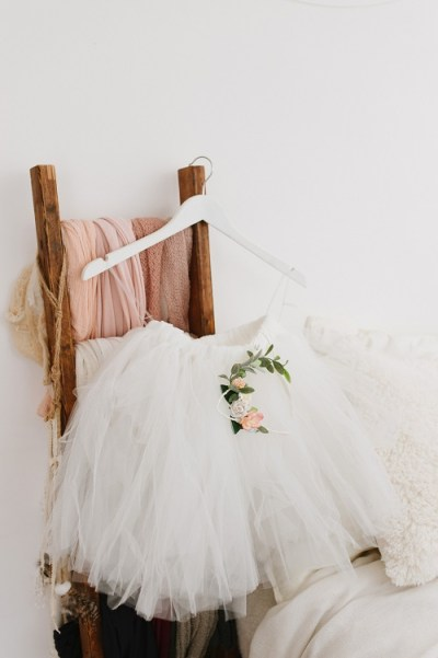 Tulle bridesmaids skirt