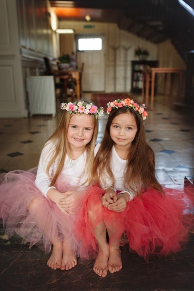 Bridesmaid peach tutu tulle skirt