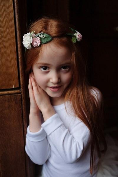 bridesmaid floral crown