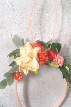 floral flower girls head band uk