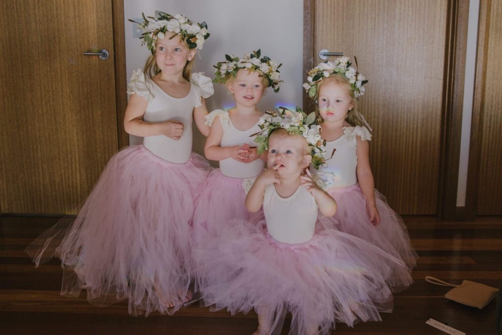 little bridesmaid dresses