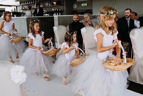 bespoke tulle flower girl dresses