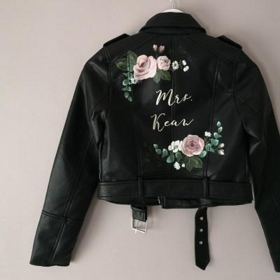 leather wedding jacket