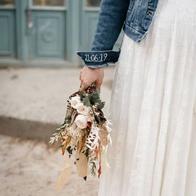 wedding denim jacket
