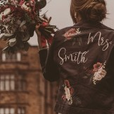 Custom Painted Bridal Jacket