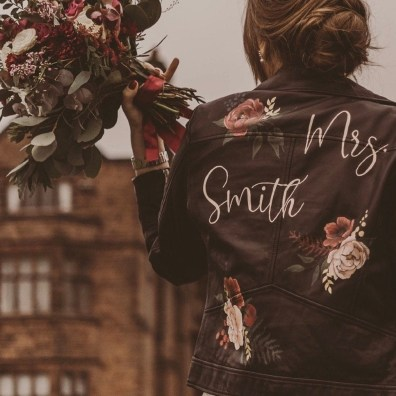 Custom Painted Bridal Jacket