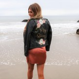 Bespoke bridal leather jacket