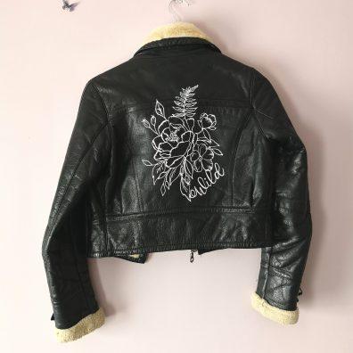 Wild Custom Floral Painted Jacket DIY KIt
