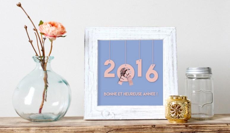 Calendrier de janvier et Bonne année 2016 !