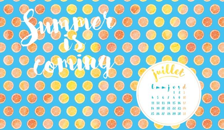 Calendrier de Juillet 2016 (Freebies & Printable)