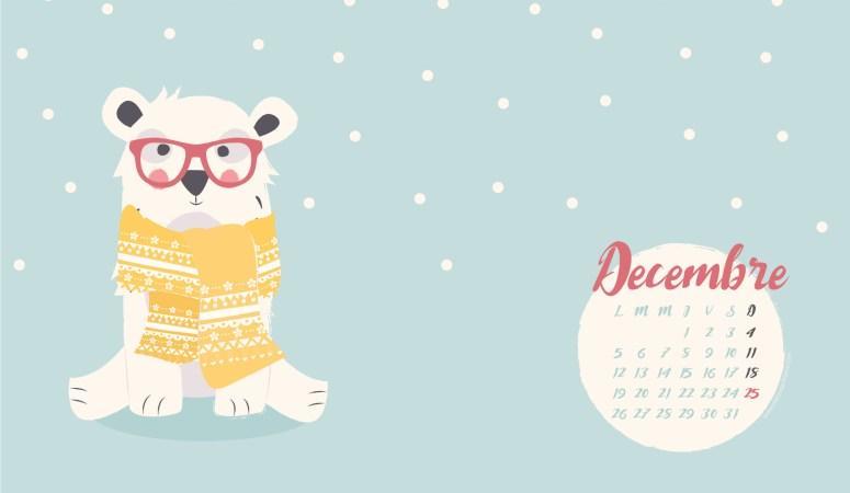calendrier de décembre 2016 à télécharger