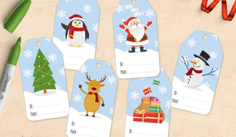 Étiquettes pour cadeaux de Noël à télécharger ! (Giftags gratuits)