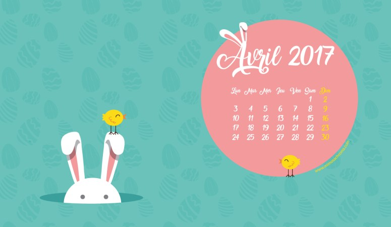 Calendrier d'Avril 2017 (Freebies & Printable)