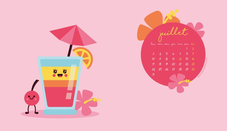 Calendrier de Juillet 2017 (Freebies & Printable)