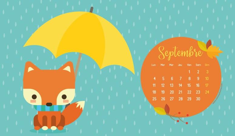 Calendrier de Septembre 2017 (Freebies & Printable)