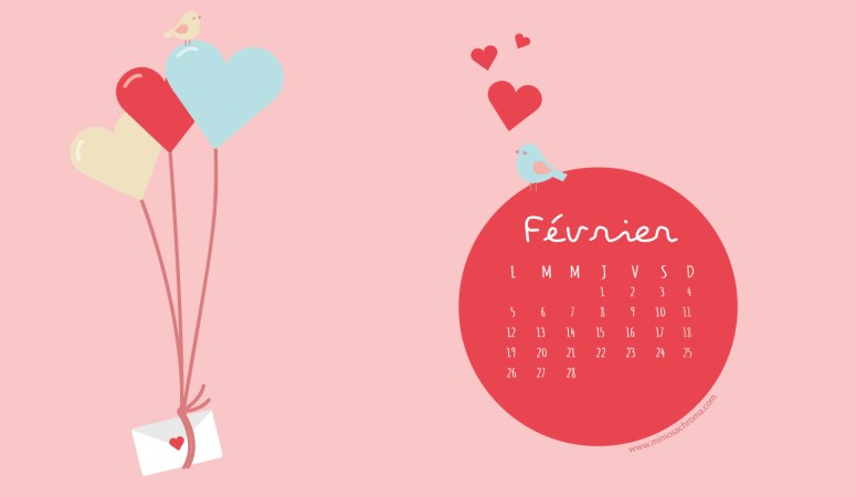 Calendrier de Février 2018 (Freebies & Printable)