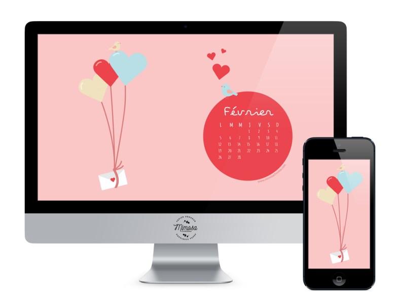 Calendrier de février à télécharger