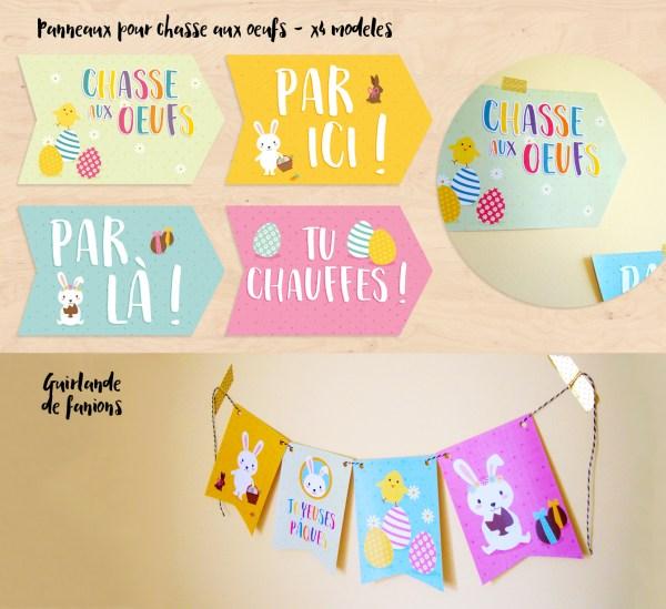 Kit décoration de paques imprimable