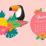 Calendrier de Juillet 2018 (Freebies & Printable)